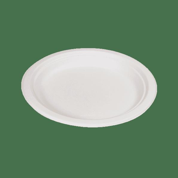 Assiette plate en pulpe de cellulose 18cm