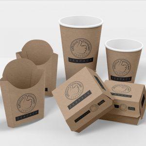 Emballage biodégradable alimentaire et vaisselles jetables à emporter