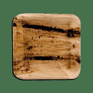 Assiettes en feuilles de palmier - Plat carré 24cm