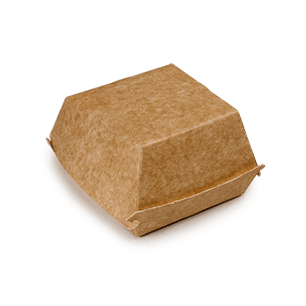 Boîtes à hamburger en carton Kraft 10x10xh8 cm