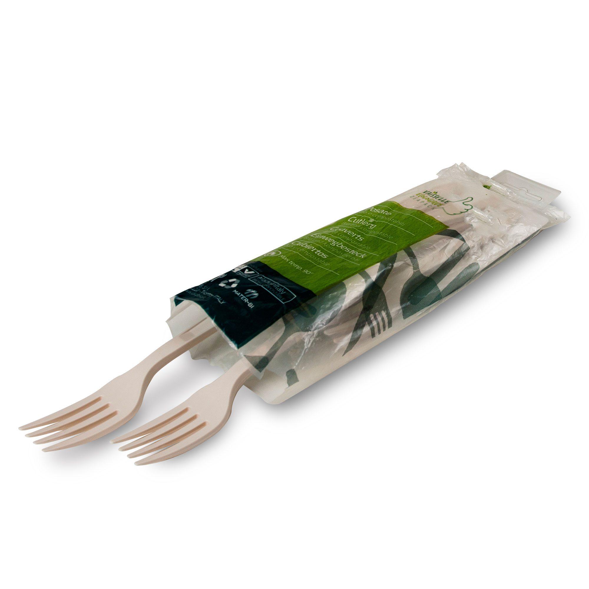 Fourchettes jetables zeapack sans plastique par 20