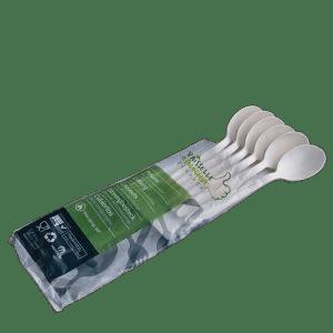 Grandes cuillères Zeapack jetables sans plastique par 20