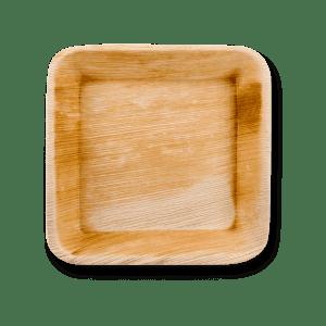 Assiette en feuilles de palmier
