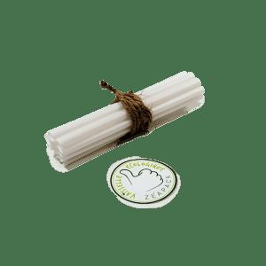 Pailles jetable écologique végétales blanches droites, sans plastique