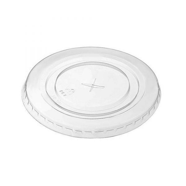 Couvercles plats avec trou sans plastique
