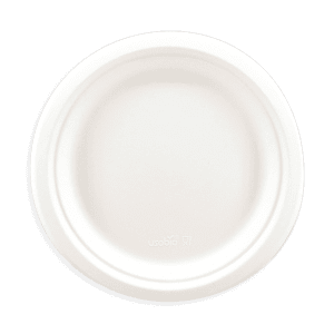 Assiette plate en pulpe de cellulose 22cm