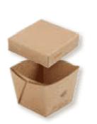 Boîte avec couvercle sans plastique zeapack