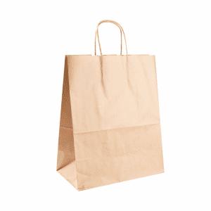 Sac à emporter en papier kraft biodegradable sans plastique