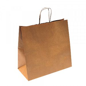 sac kraft avec anse ZEAPACK sans plastique 32+16x31