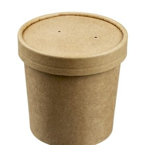 pot fibre de bambou 350 ml biodégradable sans plastique zeapack