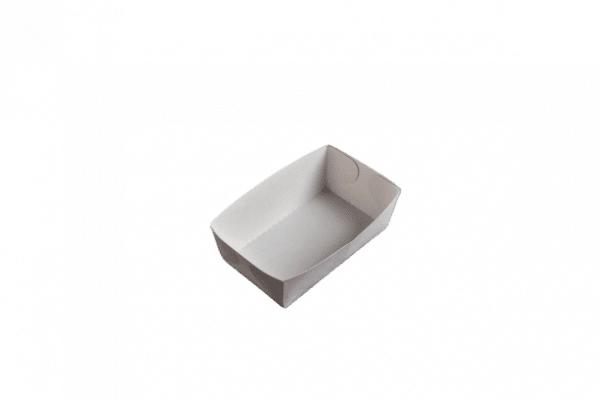 petite barquette à frites en carton sans plastique 12x7xh4.5 cm